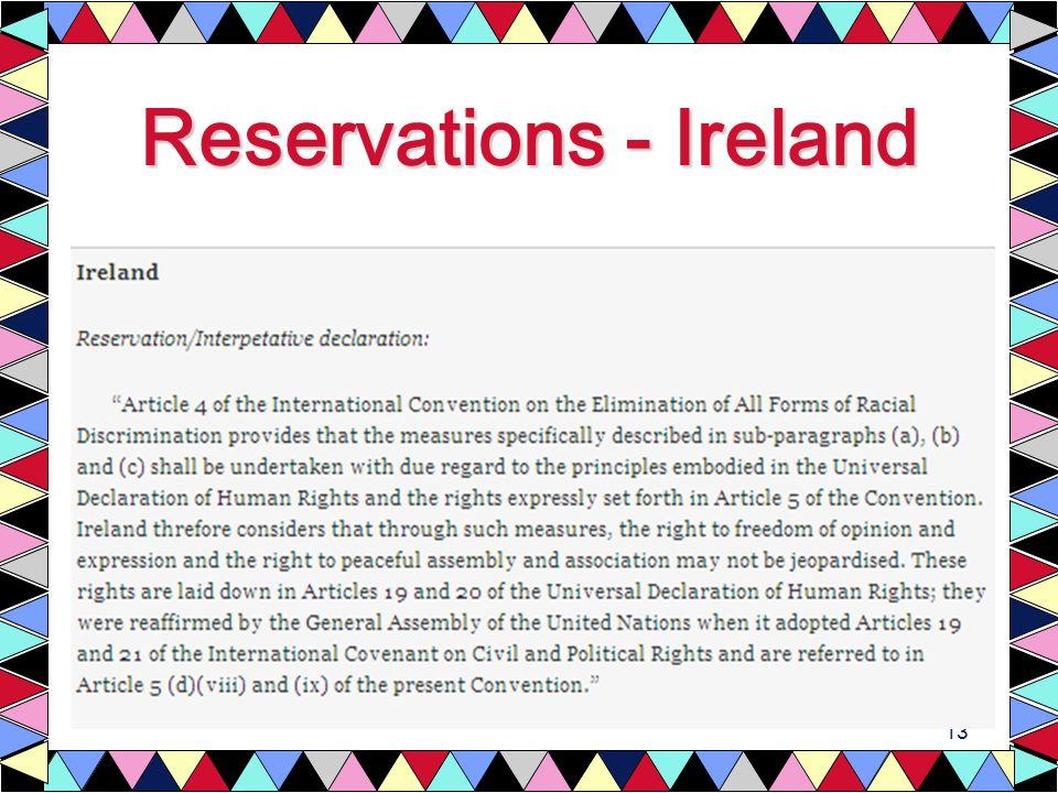 13 Reservations - Ireland