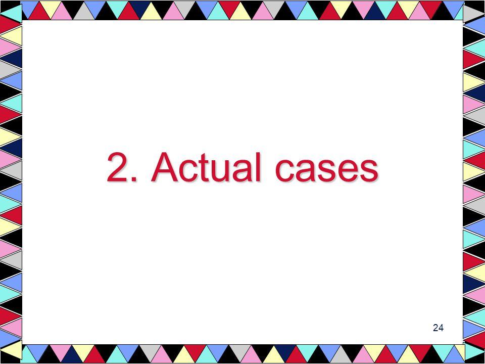 24 2. Actual cases