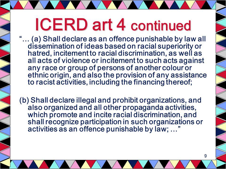 10 Ratification of ICERD