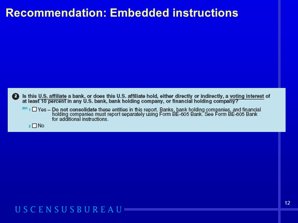 12 Recommendation: Embedded instructions