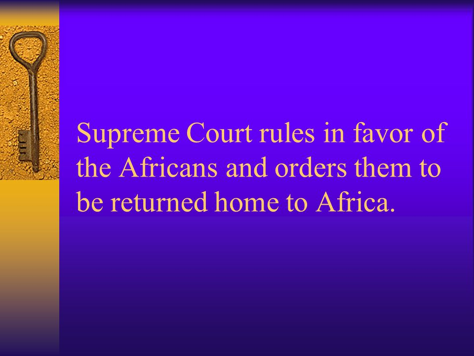 John Quincy Adams and Roger Baldwin argue Africans' case in the Supreme Court.