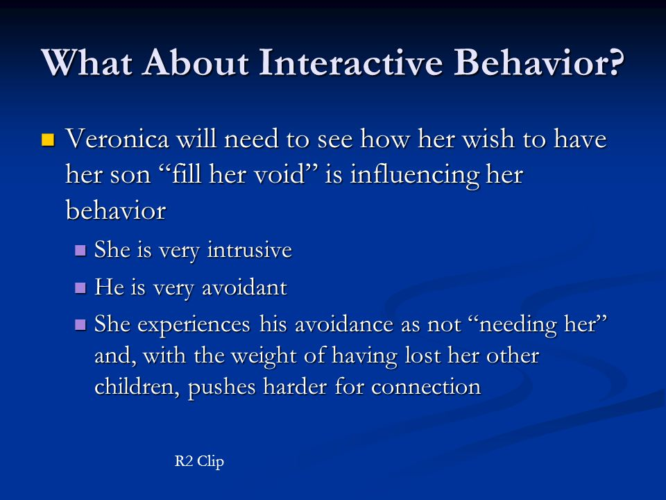 What About Interactive Behavior.