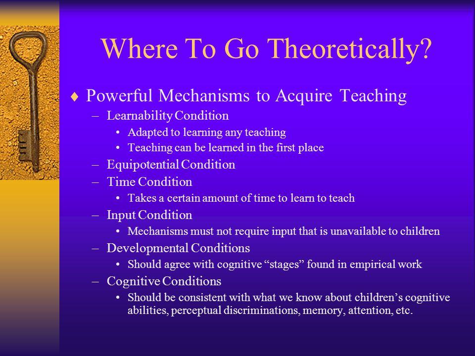 Where To Go Theoretically.