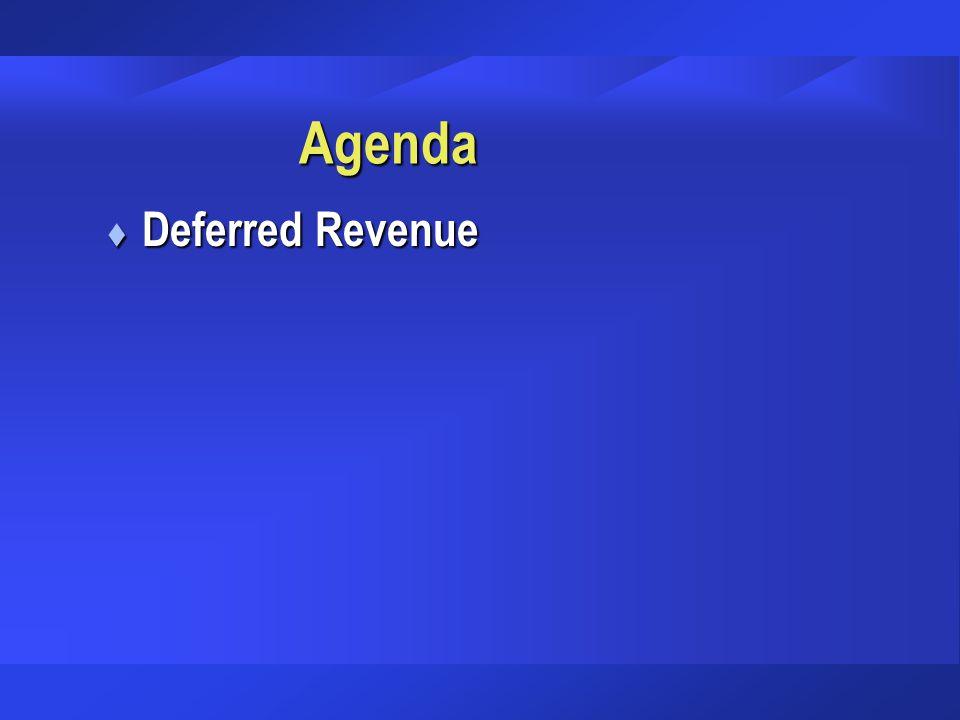 Agenda t Deferred Revenue