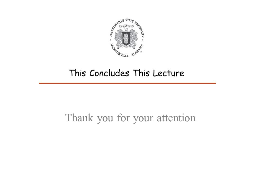 Thank you for your attention This Concludes This Lecture