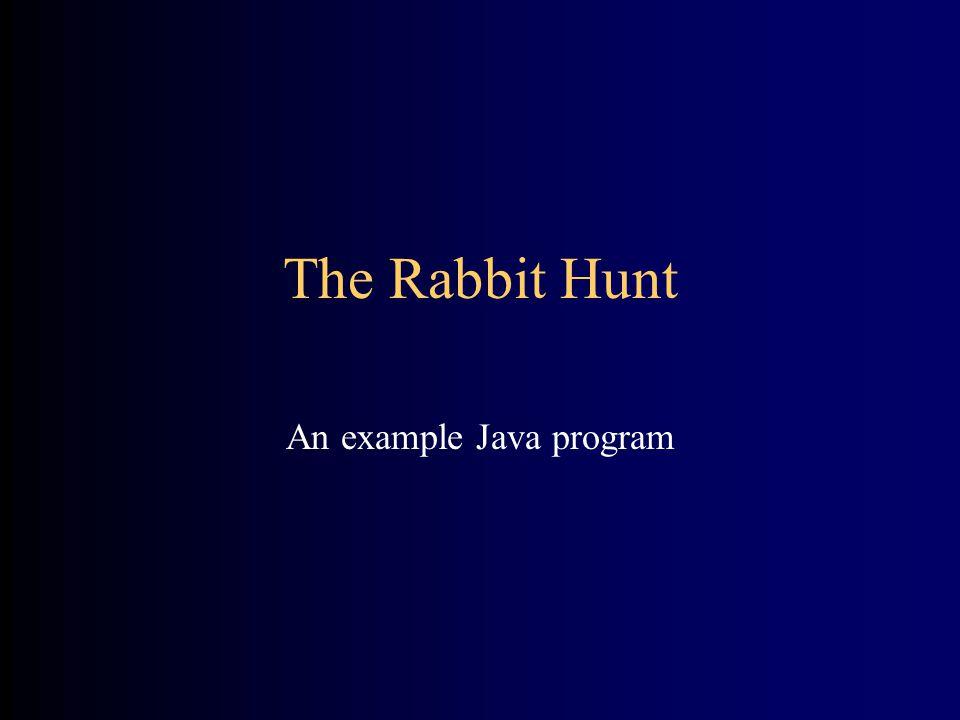 The Rabbit Hunt An example Java program