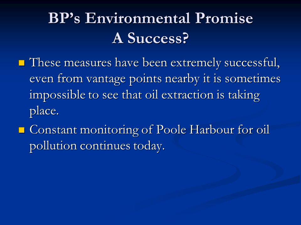 BP's Environmental Promise A Success.