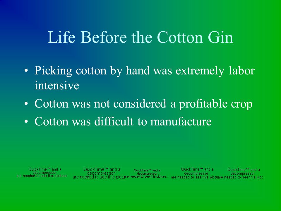 Patent on the Cotton Gin Whitney applied for patent on the cotton gin Patent was ignored More people made their own design Whitney never became wealthy from invention Actual patent written.