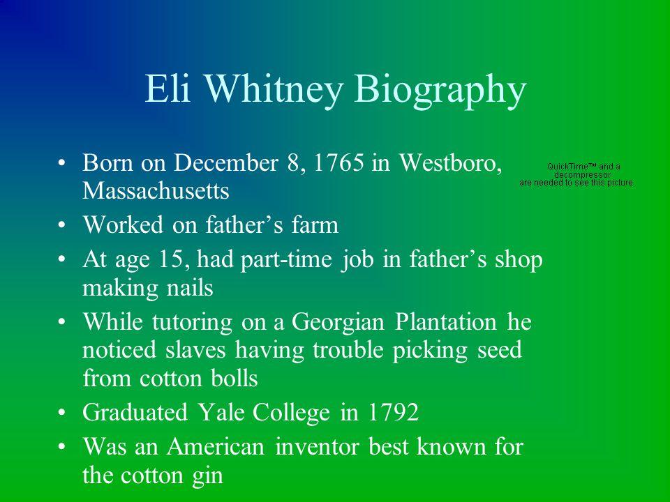 Evolution of the Cotton Gin. First cotton ginModern cotton gin