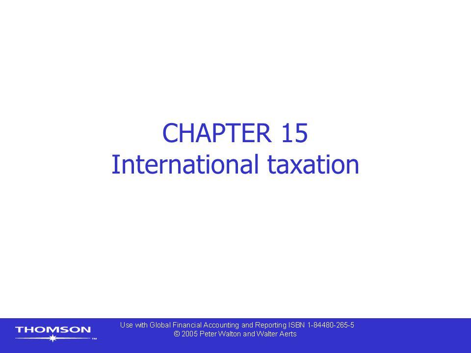 CHAPTER 15 International taxation
