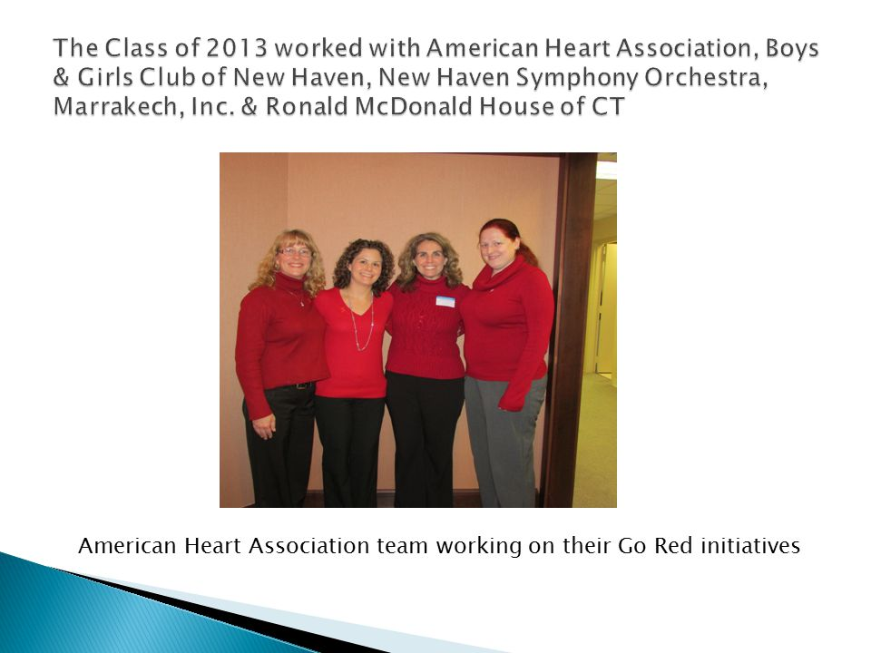 American Heart Association team working on their Go Red initiatives