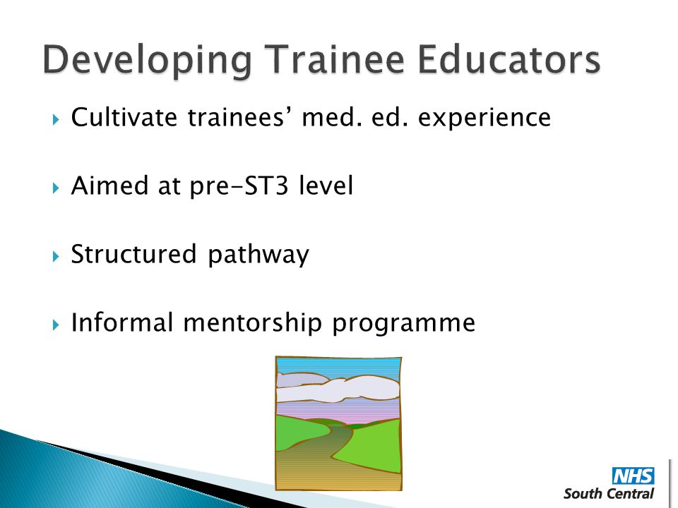  Cultivate trainees' med.ed.