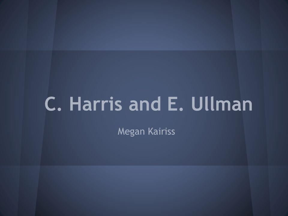 Chauncy Harris ●1914-2003 ●Born in Utah ●Received a B.A.