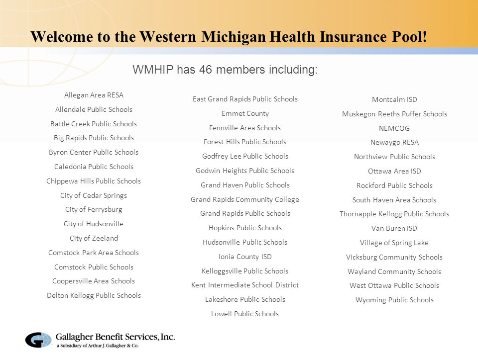 WMHIP Overview 4 PA 106 Public Employer Pool Plan (PEPP) Owned by the Public Entities Membership Opportunity for Consumerism Through Plan Choice, Transparency and Wellness Fully Reserved Self Funded Plan Development of Medical Plans and Flexible Offerings Governed by Board Adopted By-laws Claims administered by Blue Cross Blue Shield of Michigan