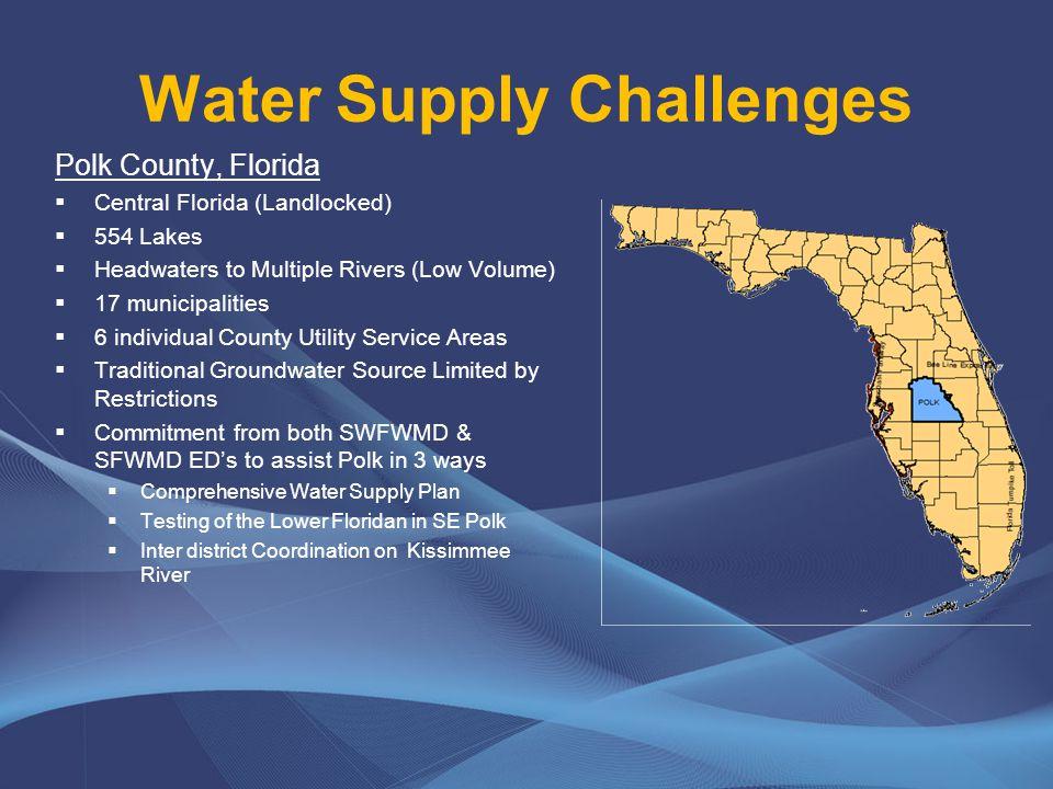 Hillsborough River Groundwater Basin 2 % of Polk No impacts allowed in UFA Regulatory Constraints