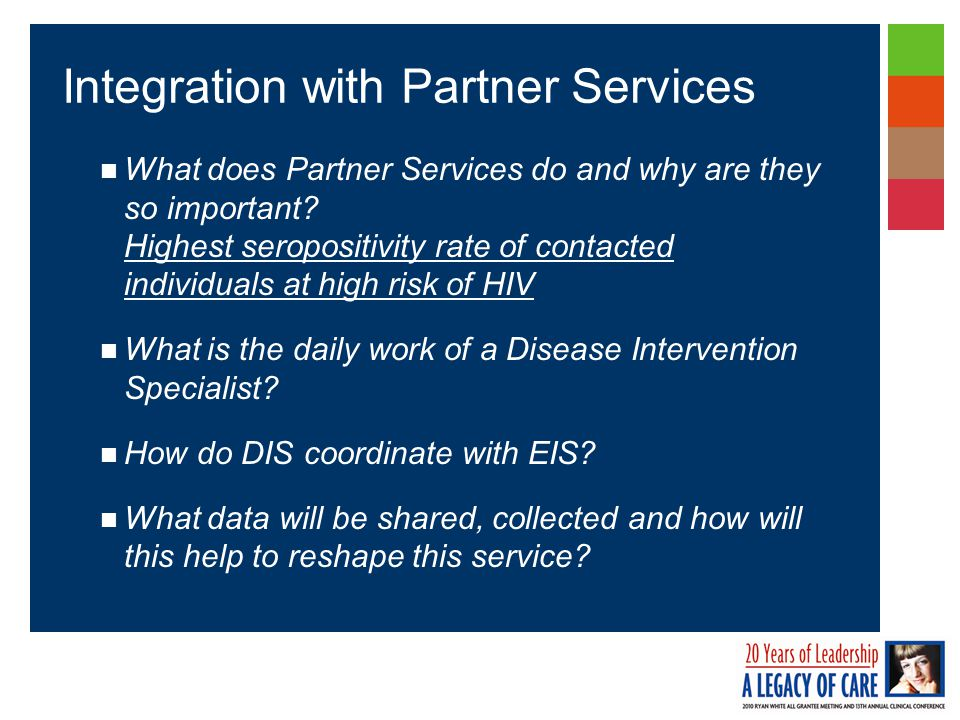 What does Partner Services do and why are they so important.
