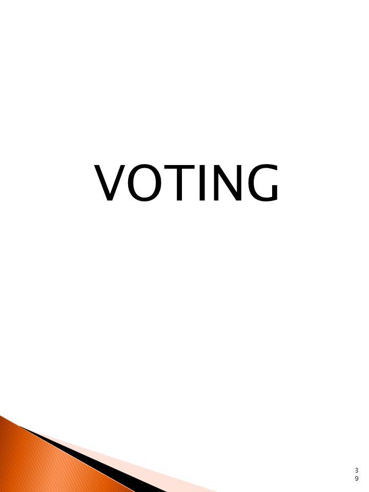 VOTING 39