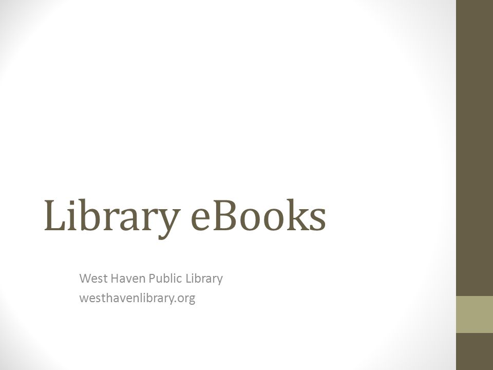Library eBooks West Haven Public Library westhavenlibrary.org