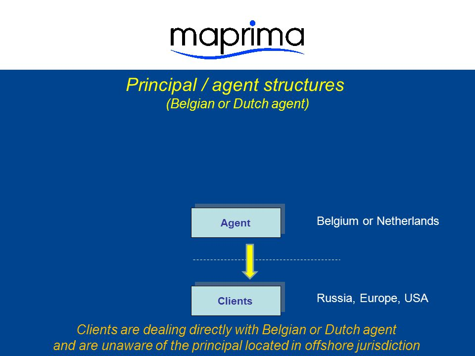 Principal / agent structures (tax motivated)
