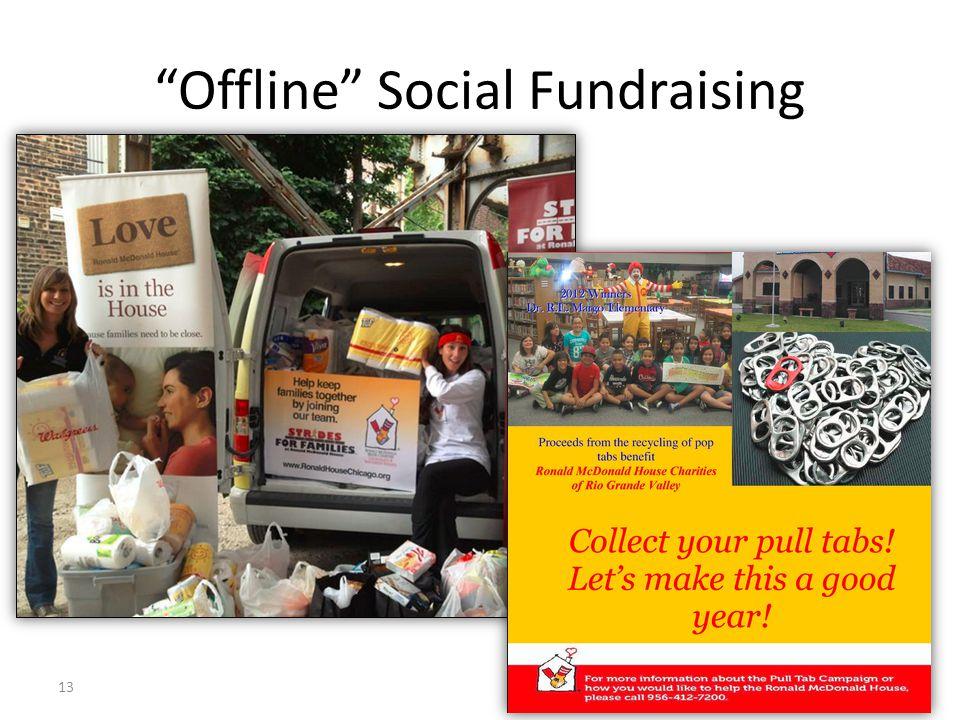 """""""Offline"""" Social Fundraising 13"""