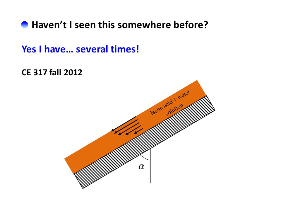 Haven't I seen this somewhere before Yes I have… several times! CE 317 fall 2012