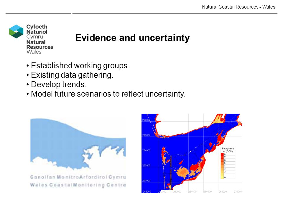 Natural Coastal Resources - Wales Evidence and uncertainty Established working groups.