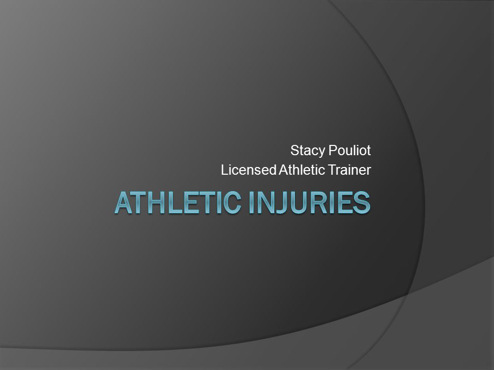 Stacy Pouliot Licensed Athletic Trainer