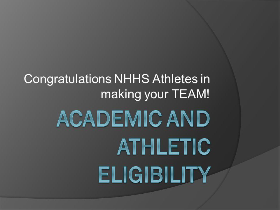 Congratulations NHHS Athletes in making your TEAM!
