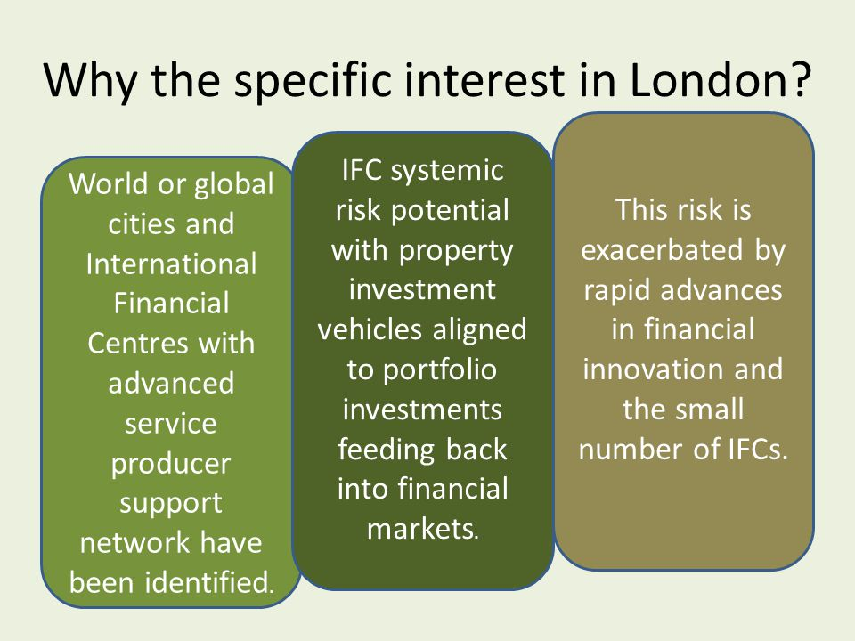 Why the specific interest in London.
