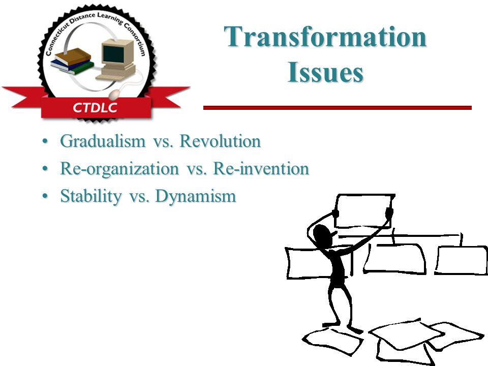 Transformation Issues Gradualism vs. RevolutionGradualism vs.