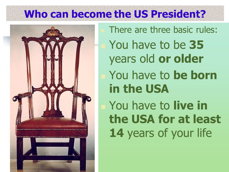 Who can become the US President.