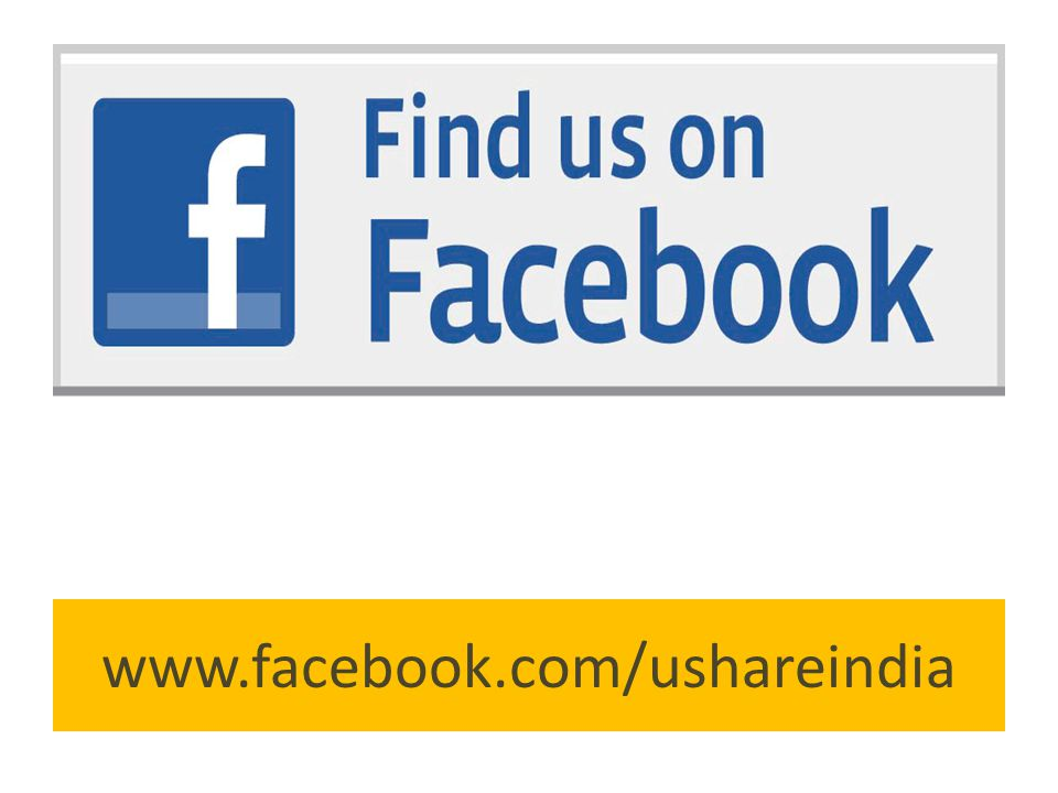 www.facebook.com/ushareindia
