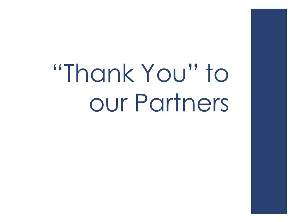 """Thank You"" to our Partners"