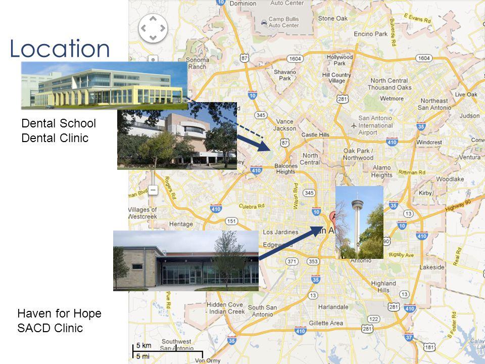 Location Dental School Dental Clinic Haven for Hope SACD Clinic