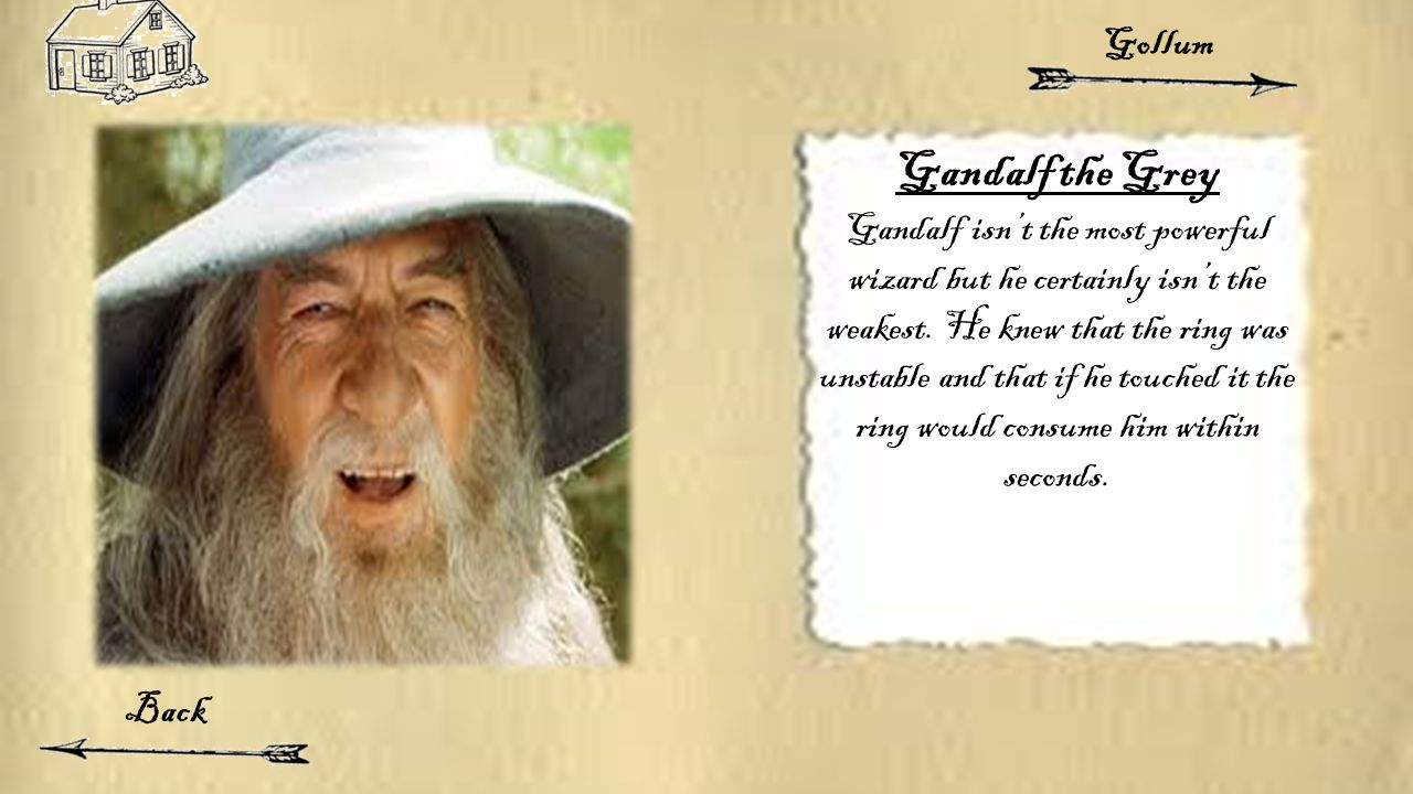 Gandalf the Grey Gandalf isn't the most powerful wizard but he certainly isn't the weakest.