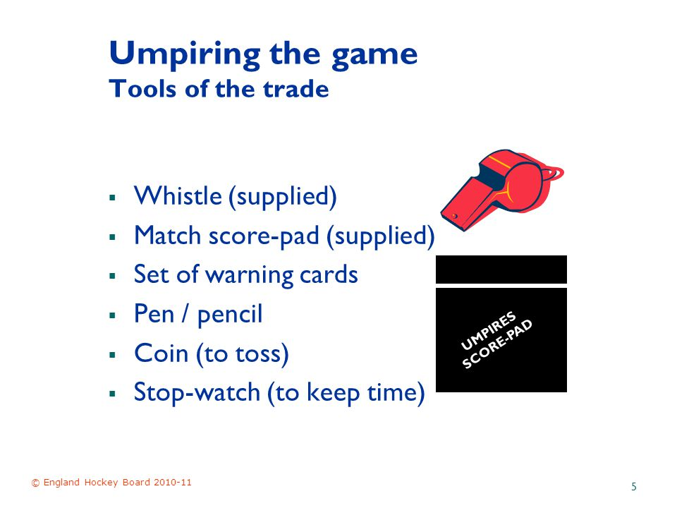 © England Hockey Board 2010-11 16 Rule 2 Penalties Umpires have a variety of penalties that they can apply 1.