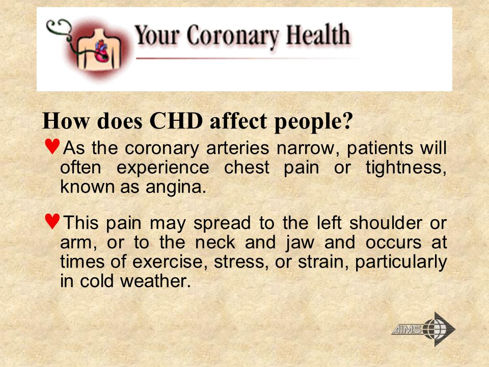 How does CHD affect people.