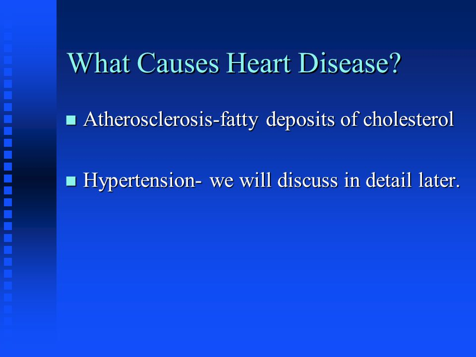 What Causes Heart Disease.