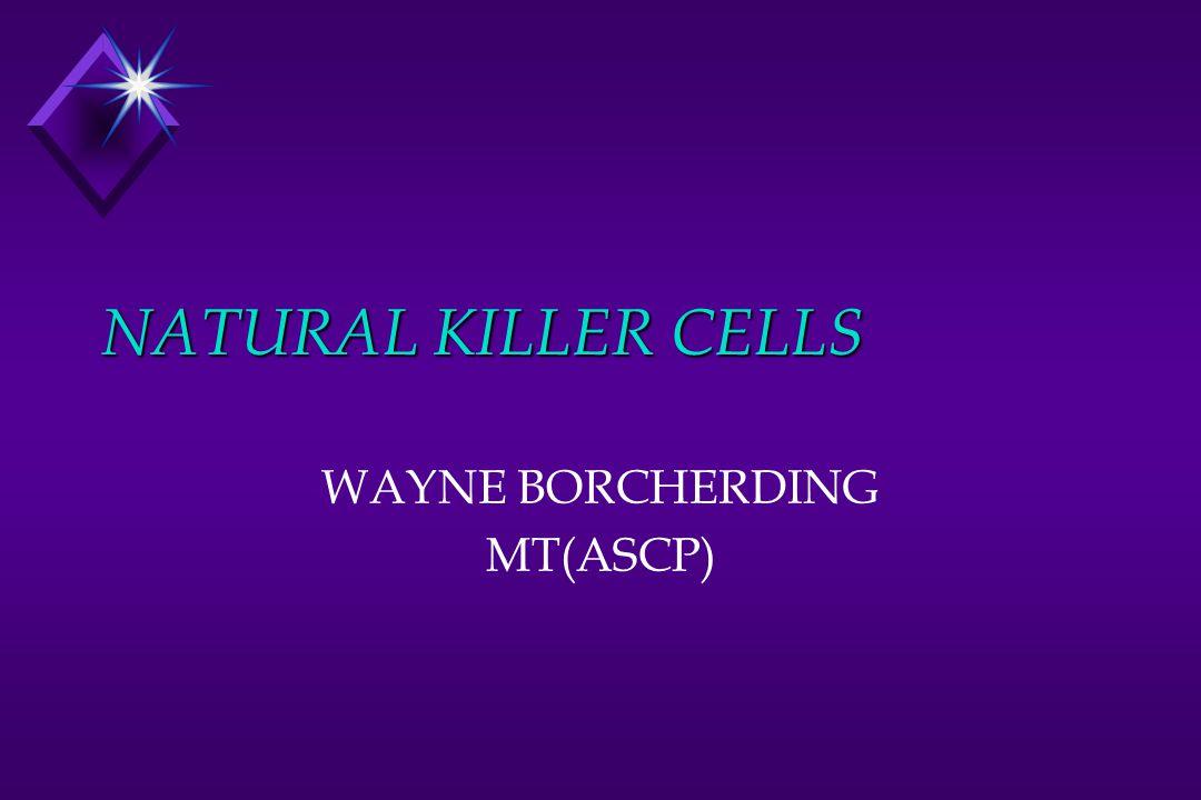 NATURAL KILLER CELLS WAYNE BORCHERDING MT(ASCP)