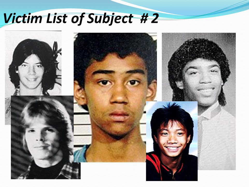 Victim List of Subject # 2