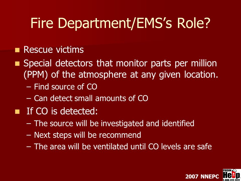 2007 NNEPC Fire Department/EMS's Role.