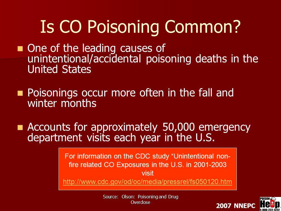 2007 NNEPC Texas Poison Center Network 1-800-222-1222 http://www.poisoncontrol.org Carbon Monoxide Poisoning information: http://www.poisoncontrol.org/toxic_carbon.