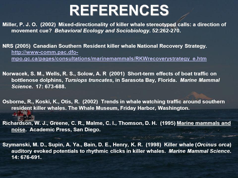 REFERENCES Miller, P. J. O.