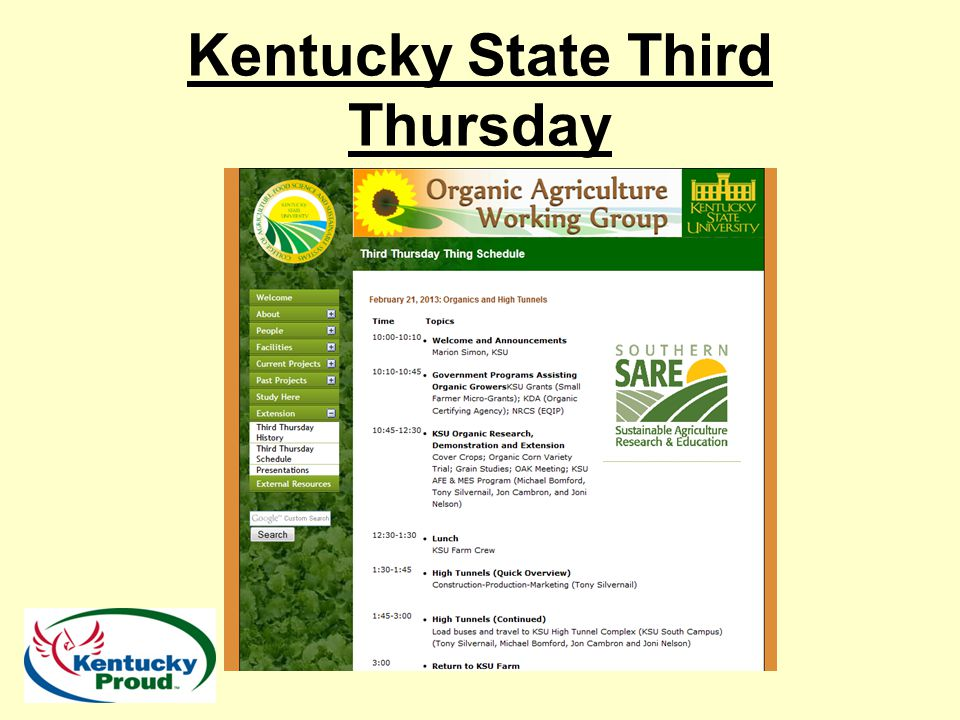 Kentucky State Third Thursday