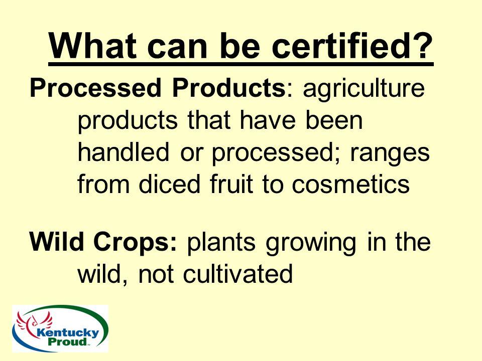 Questions Adam Watson adam.watson@ky.gov Organic Program Manager Kentucky Department of Agriculture 100 Fair Oaks Lane, 5th Floor Frankfort, KY 40601 Office (502) 564-4983 Cell (502) 229-0954
