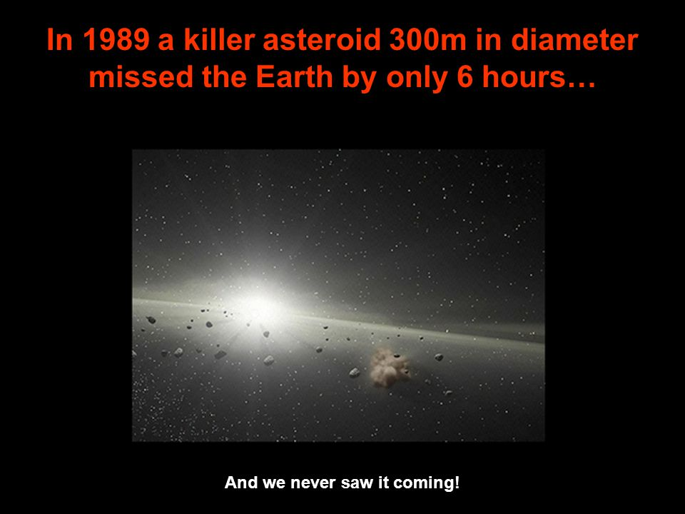 In 1989 a killer asteroid 300m in diameter missed the Earth by only 6 hours… And we never saw it coming!