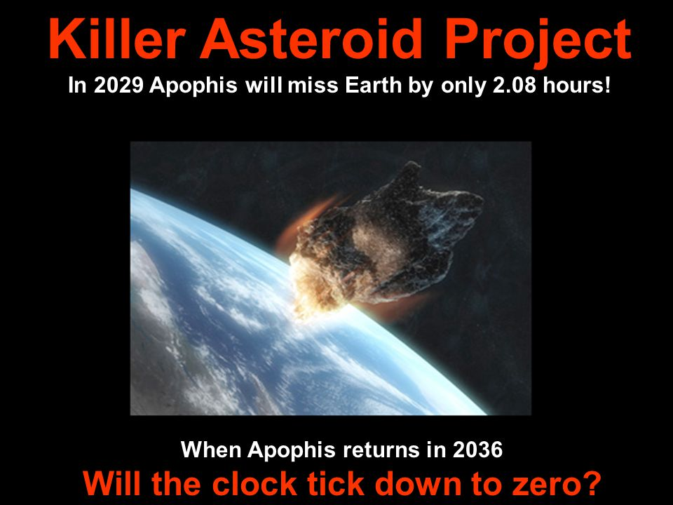 In 2029 Apophis will miss Earth by only 2.08 hours.
