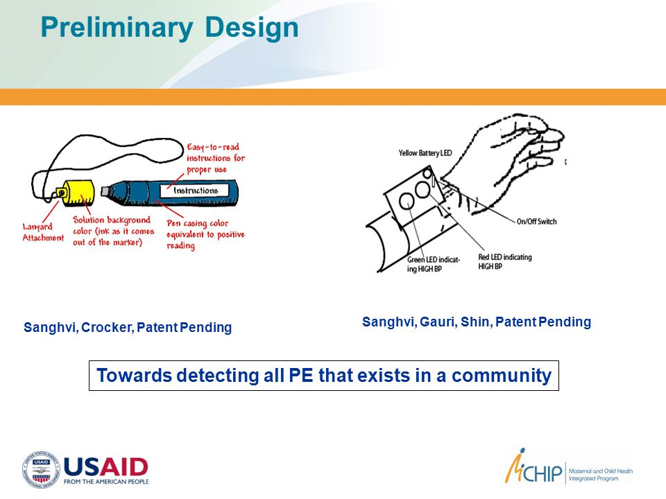 Preliminary Design Sanghvi, Crocker, Patent Pending Towards detecting all PE that exists in a community Sanghvi, Gauri, Shin, Patent Pending