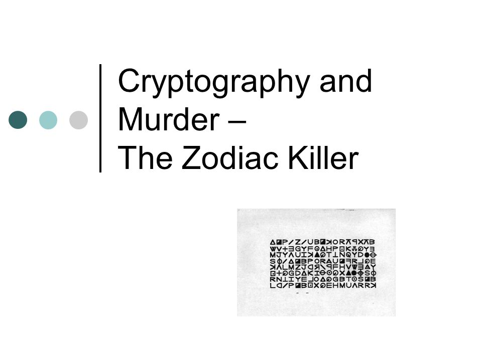 Substitution Ciphers It would have been simple to break the code if the Zodiac killer had used a Ceasar cipher, but he didn't.