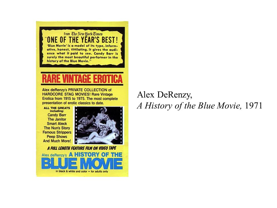 Alex DeRenzy, A History of the Blue Movie, 1971